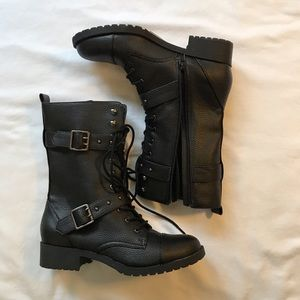 Hardy by Abound buckle combat boots